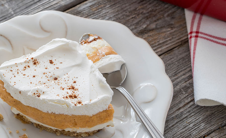 Sweet Potato Pie with Cinnamon and Vanilla Whipped Cream