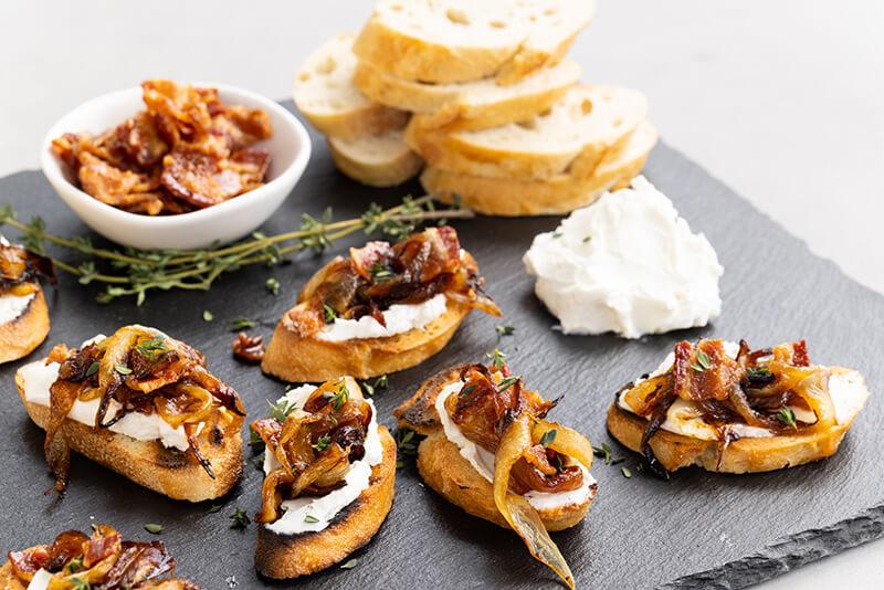 Vidalia® Onion & Bacon Bruschetta