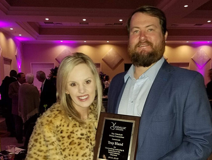 Troy Bland Receives Vidalia President's Award