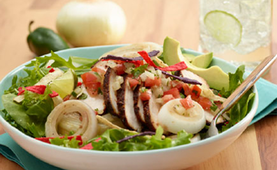 Chicken or Fish Salad with Vidalia Onion Salsa