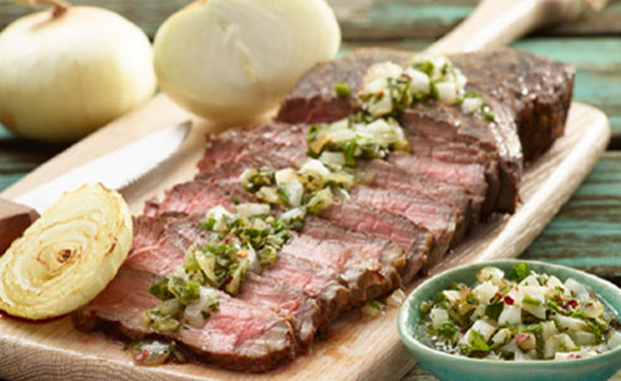 Grilled Flank Steak with Vidalia® Sweet Onion Chimichurri