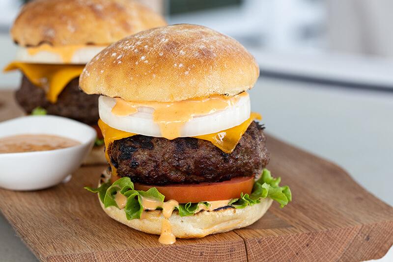 Vidalia® Sweet Onion Beef Burger