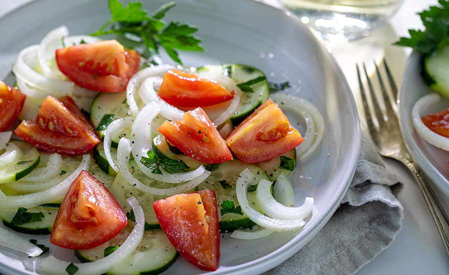 Tomato, Cucumber & Vidalia® Onion Salad