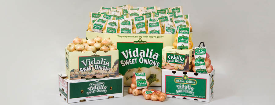 Boxes of Vidalia Sweet Onions